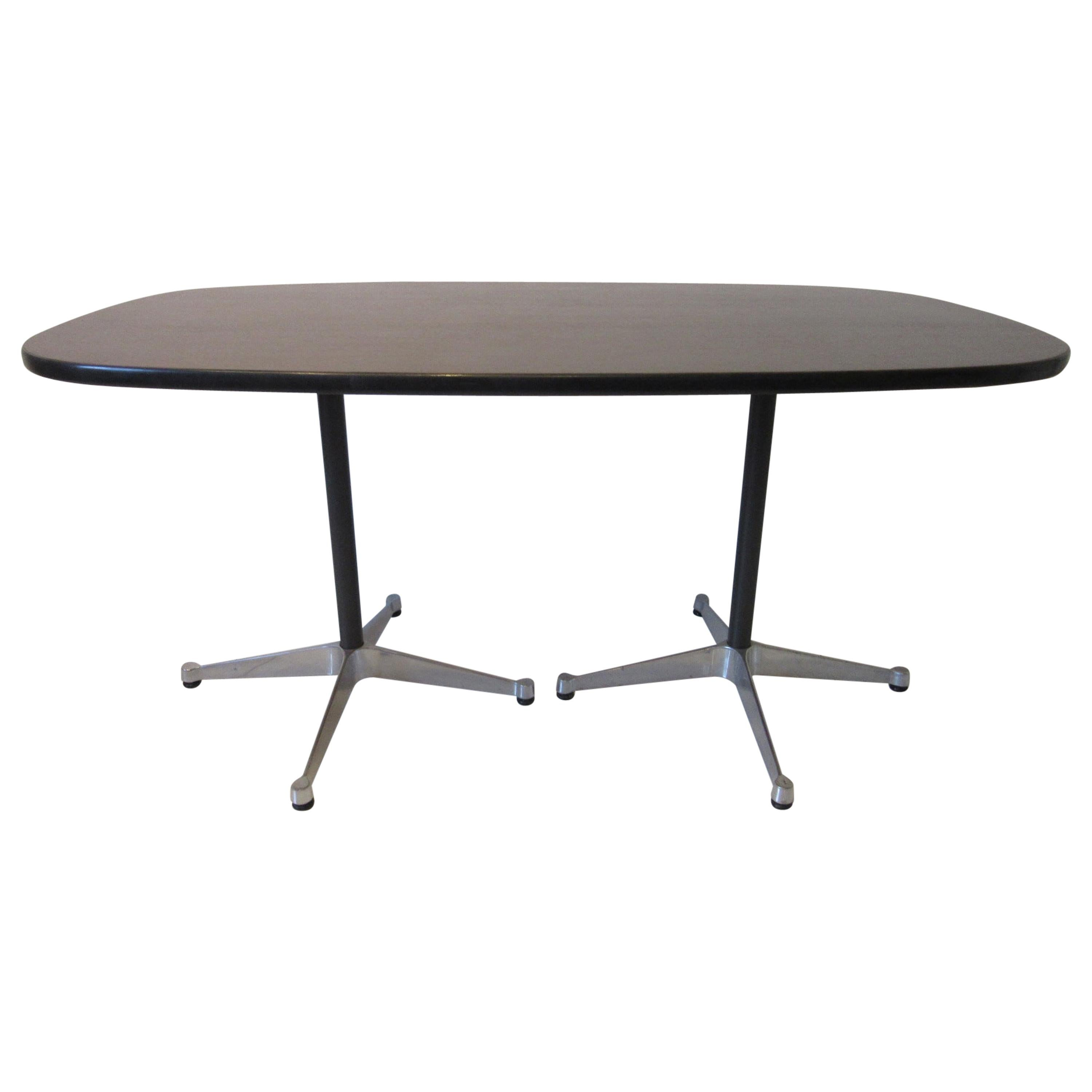 Eames Aluminum Group Dining Table for Herman Miller
