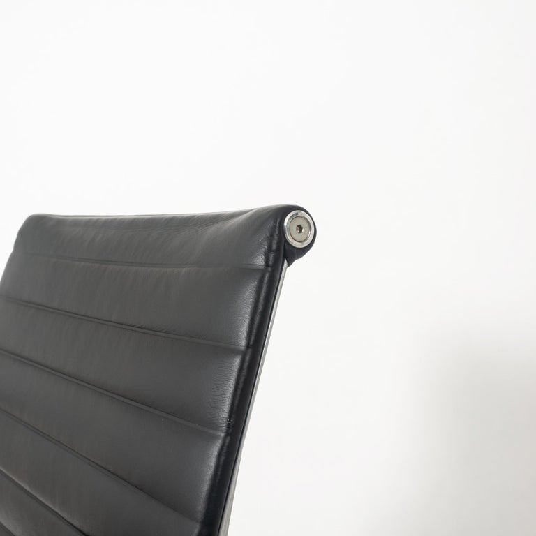 Other Eames Aluminum Group Leather Desk Chair For Sale
