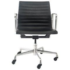 Eames Aluminum Group Leather Desk Chair