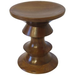 Eames American Walnut Time Life Stool / End Table for Herman Miller