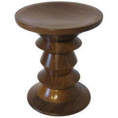 Eames American Walnut Time Life Stool / Side Table for Herman Miller
