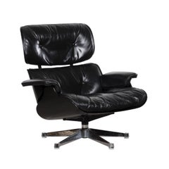 Eames Black Lounge Chair for Herman Miller International 'Vitra'