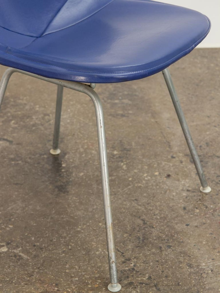 Eames Blue Padded Wire Shell Chair For Sale 1