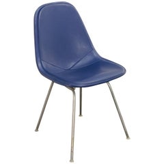 Eames Blue Padded Wire Shell Chair
