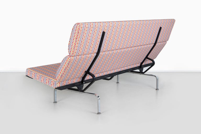 20th Century Eames Compact Sofa for Herman Miller with Alexander Girard Fabric For Sale