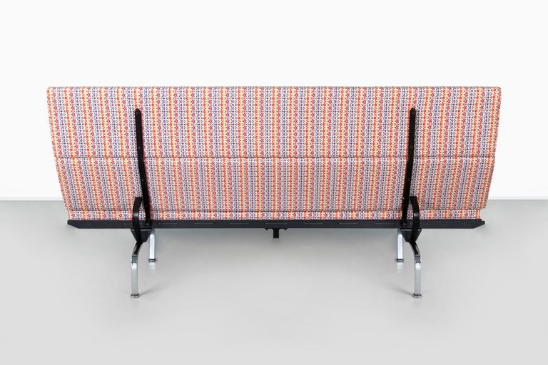 Metal Eames Compact Sofa for Herman Miller with Alexander Girard Fabric For Sale
