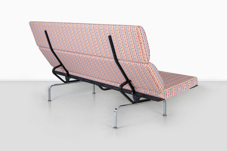 Eames Compact Sofa for Herman Miller with Alexander Girard Fabric For Sale 1