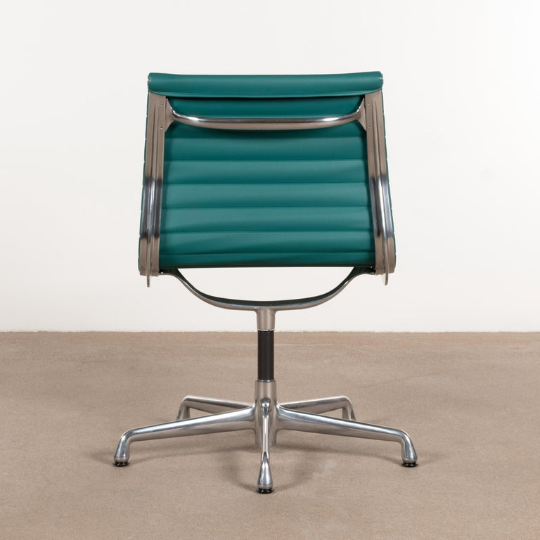Cast Eames Conference Chair in Turquoise Vinyl for Herman Miller, USA