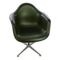 Eames Dark Green Fiberglass Armchair for Herman Miller