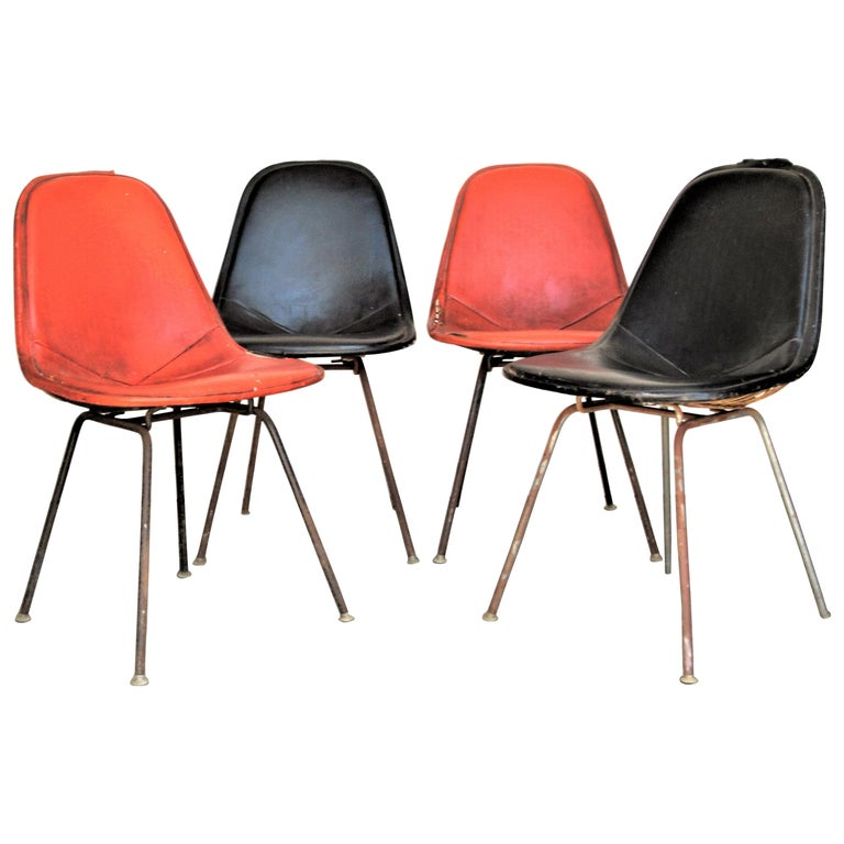 Eames DKX 1 Chairs for Herman Miller For Sale
