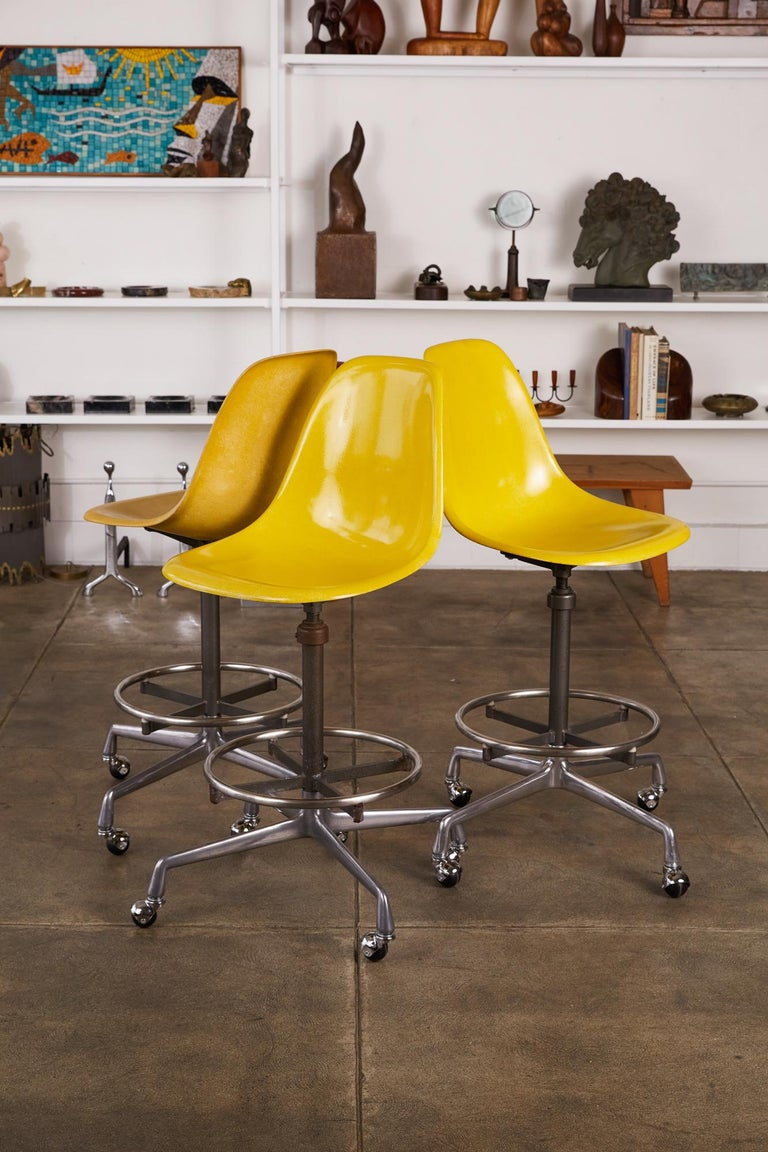 Late 20th Century Eames Drafting Stools for Herman Miller For Sale