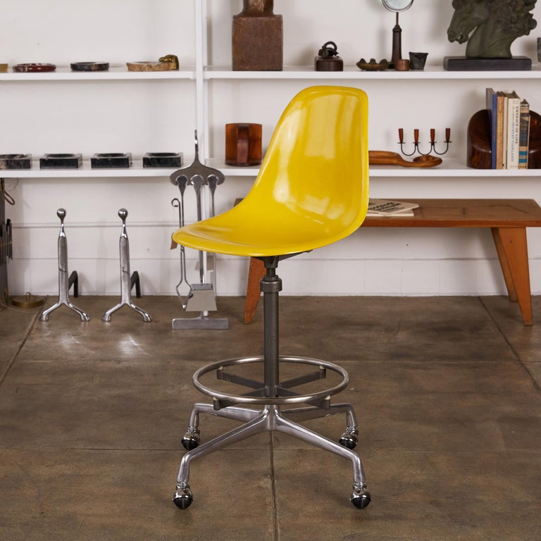 Steel Eames Drafting Stools for Herman Miller For Sale