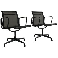 Eames EA 108 Aluminium Chair with Black Frame by Vitra