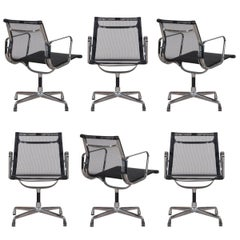Eames EA108 Black Netweave Dining Chair by Vitra