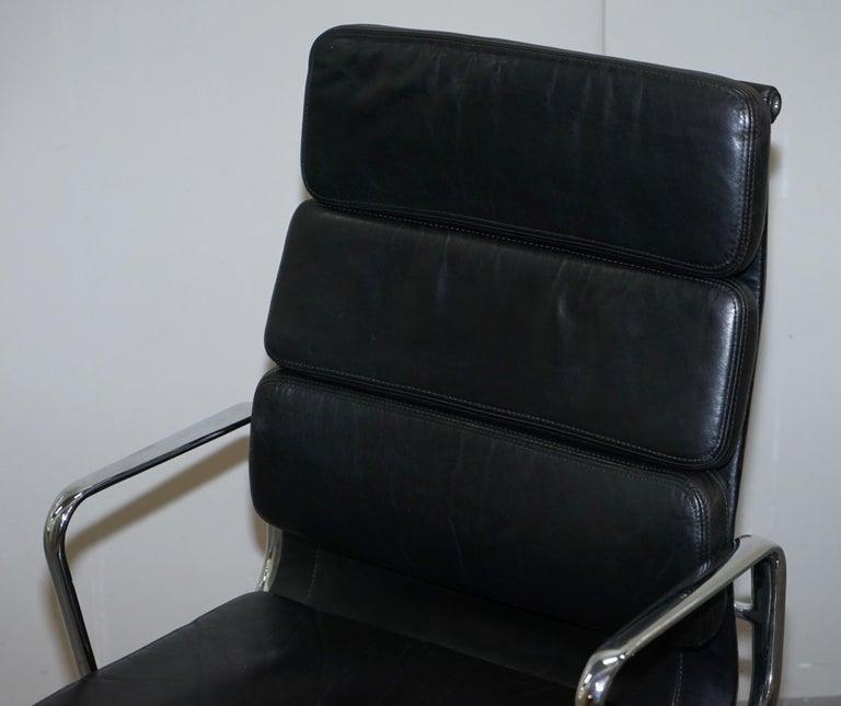 European Eames EA219 Vitra Eames High Soft Pad Office Armchair Black Leather
