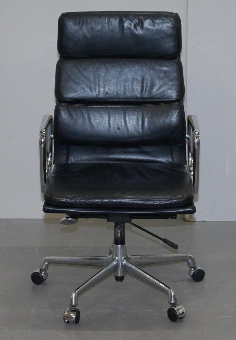 We are delighted to offer for sale this very comfortable Charles Eames retailed through Vitra fully stamped RRP £3620 high back soft pad office chair with chrome swivel base  Pretty much one of the most iconic chairs ever made, the history,