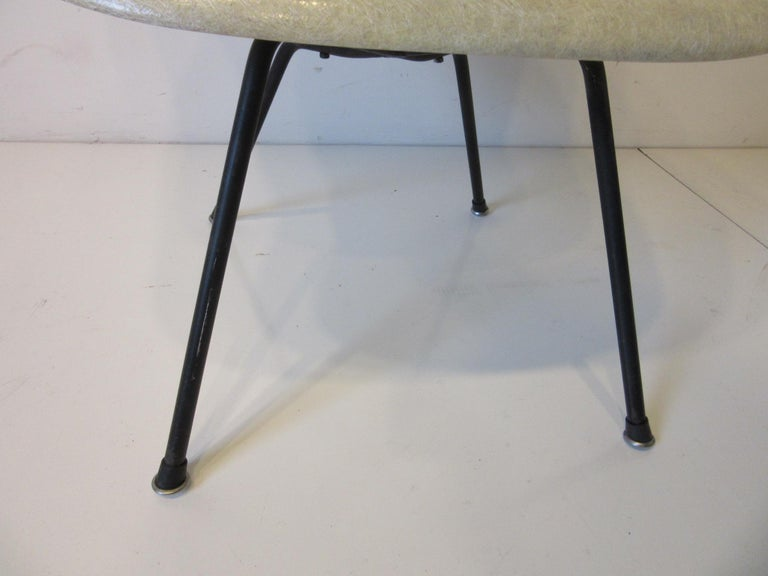 Fiberglass Eames Early Shell Chair Lounge Height for Herman Miller For Sale