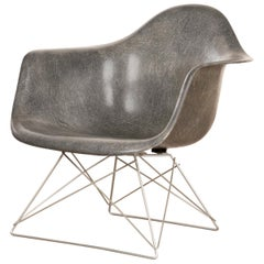 Eames Elephant Grey LAR Lounge Chair, Herman Miller, 1950s