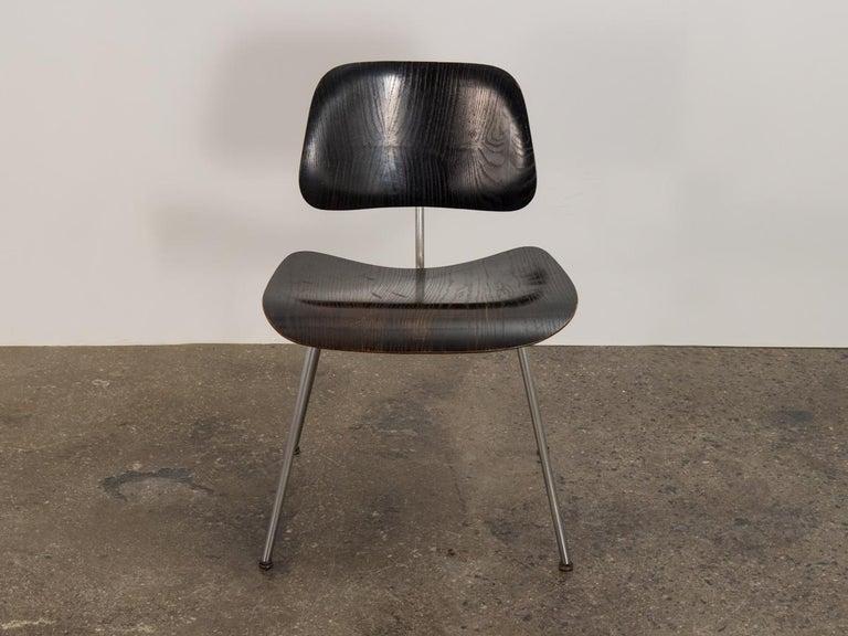 Mid-Century Modern Eames for Evans Ebonized DCM For Sale