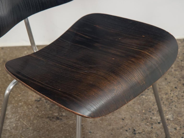 Eames for Evans Ebonized DCM In Good Condition For Sale In Brooklyn, NY