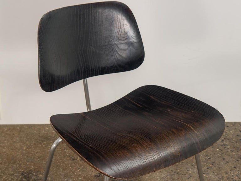 Plywood Eames for Evans Ebonized DCM For Sale
