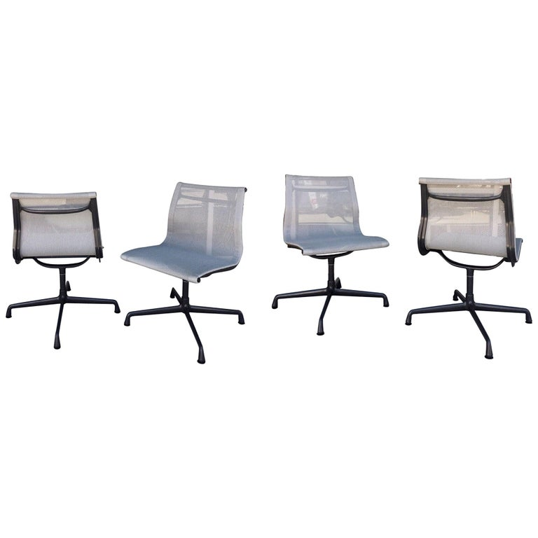 Eames for Herman Miller 4-Piece Aluminum Group Indoor/Outdoor Chairs For Sale