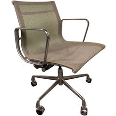 Eames for Herman Miller Aluminium Group Chair in Gray Mesh