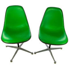 Eames for Herman Miller Bright Green Chairs