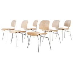 Eames Herman Miller DCM Stühle in brasilianischen Rindsleder