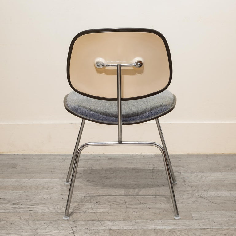 Eames for Herman Miller EC-127 DCM Padded Chair, circa 1970-1988 In Good Condition For Sale In San Francisco, CA