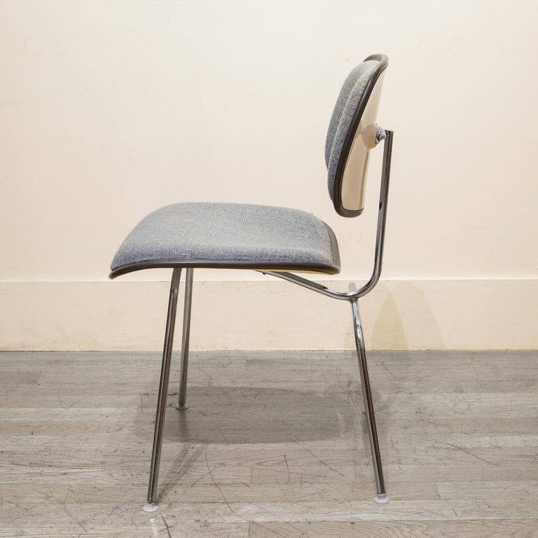20th Century Eames for Herman Miller EC-127 DCM Padded Chair, circa 1970-1988 For Sale