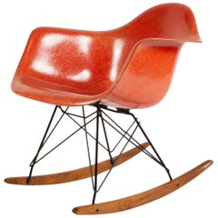 Eames for Herman Miller Fiberglass Armchair Rocker-RAR
