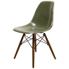 Eames for Herman Miller Fiberglass Shell Chair in Sea Foam Green , c. 1958-1965