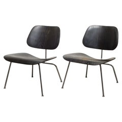 Eames for Herman Miller LCM Chairs in Black, circa 1950