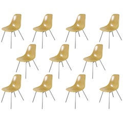 Eames for Herman Miller Lemon Yellow Shell Chairs