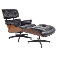 Eames for Herman Miller Mid Century Walnut Lounge Chair with Ottoman