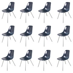 Eames for Herman Miller Navy Blue Fiberglass Shell Chair