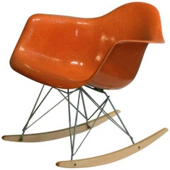 Eames for Herman Miller Red Orange RAR Rocker