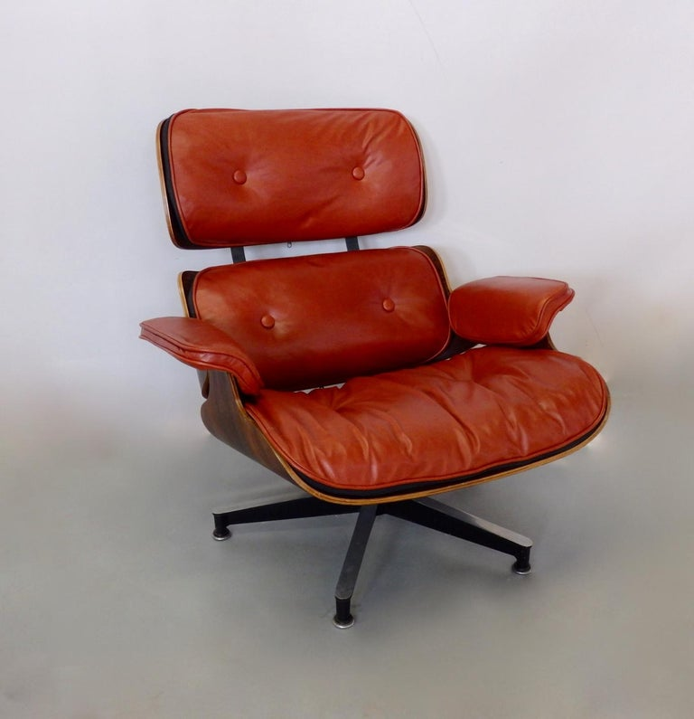 Eames For Herman Miller Rosewood With Red Leather 670