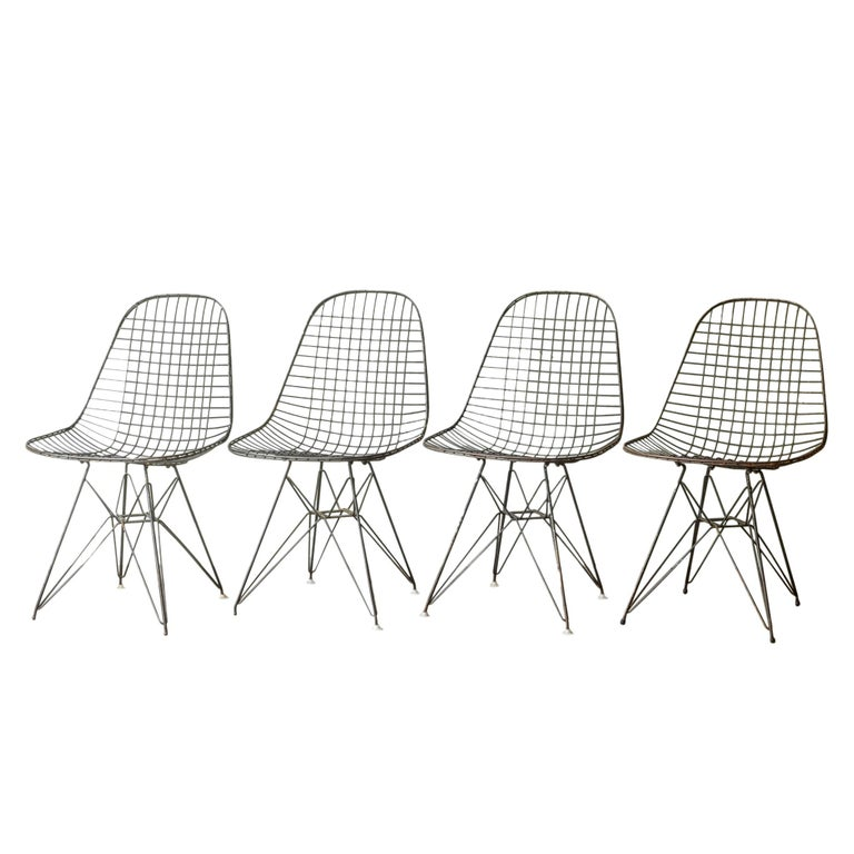Eames for Herman Miller Wire DKR Chairs, circa 1950 Price is Per Chair For Sale