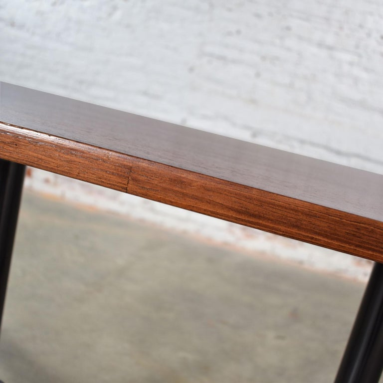 Metal Eames Herman Miller Aluminum Group Conference or Dining Table Rosewood and Black For Sale