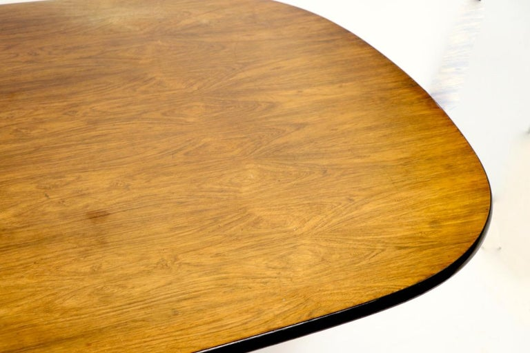 Eames Herman Miller Aluminum Group Conference Table with Rosewood Top For Sale 2