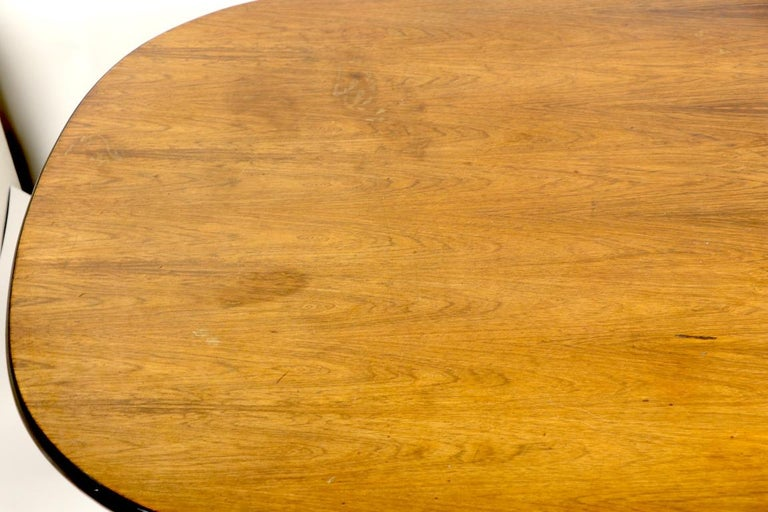 Eames Herman Miller Aluminum Group Conference Table with Rosewood Top For Sale 3
