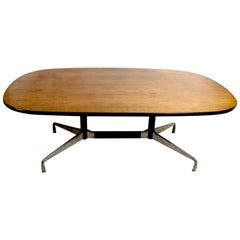 Eames Herman Miller Aluminum Group Conference Table with Rosewood Top