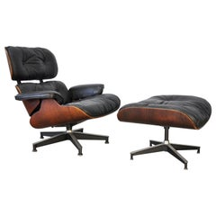 Eames Herman Miller First Generation Rosewood Lounge Chair and Ottoman