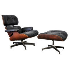 Eames Herman Miller Rosewood Lounge Chair and Ottoman