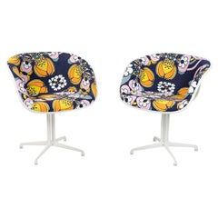 Eames Herman Miller La Fonda Chairs with Peter Max Upholstery