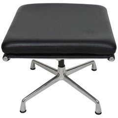 Eames Herman Miller Soft Pad Aluminum Group Leather Foot Stool Ottoman