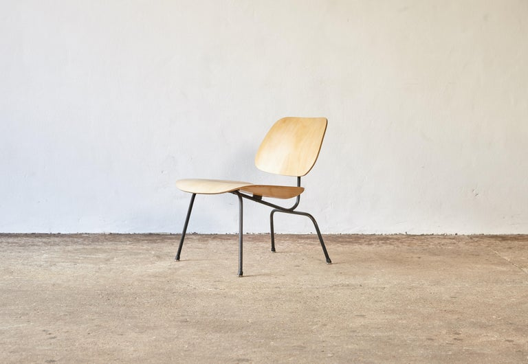 An Eames LCM lounge chair, Herman Miller, USA, 1950s. Ash plywood, chrome-plated steel and original rubber feet caps. With manufacturers label.  Wear consistent with age and use. Structurally sound. Fast shipping worldwide.