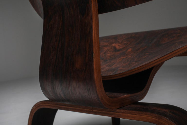 Eames LCW Pre-Production in Rio Rosewood For Sale 4